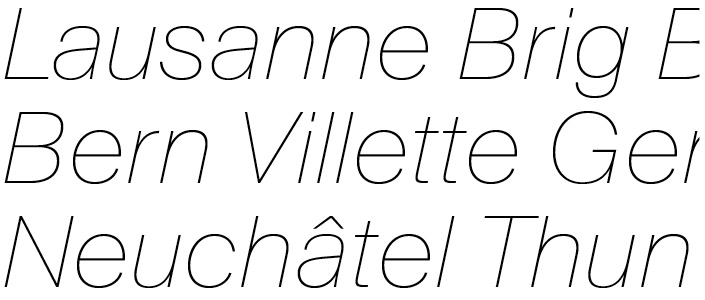 Suisse BP Int'l Ultralight Italic