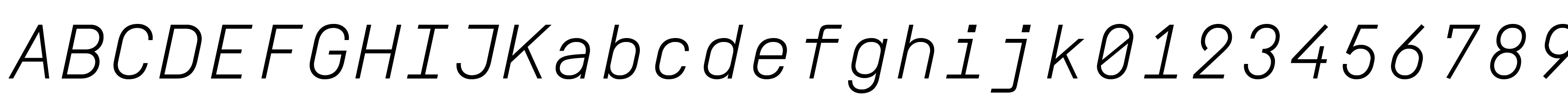 Simplon Mono Light Italic